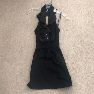 BCBGeneration black cocktail halter dress